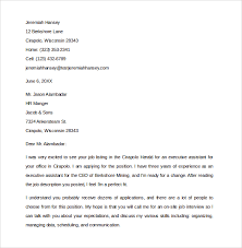 basic cover letter sle executive assistant cover letter 9 free