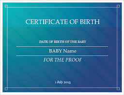 sample birth certificate template health certificate template for