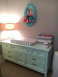 Changing Table Or Dresser Mint Dresser As Changing Table Wall Collage Nursery Pinterest