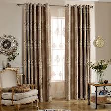 luxury bedroom curtains coffee damask jacquard insulated luxury bedroom curtains