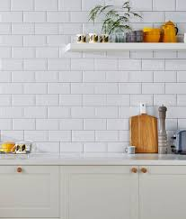 White Wall by Victoria Metro Wall Tiles Gloss White 20 X 10cm White Wall