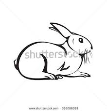 easter rabbit outline stock images royalty free images u0026 vectors