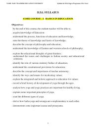 bed syllabus 2015 16 identity social science yoga