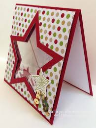 kathryn u0027s stampin u0027 world christmas in july star shaker card