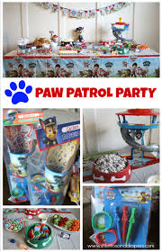 paw patrol birthday party food tablescape goodie bag ideas