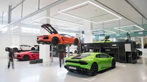 lamborghini car dealerships largest lamborghini dealership on earth built in dubai the drive