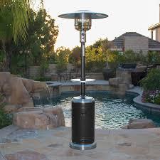 mirage heat focusing patio heater 48000 btu standing outdoor propane lucite table legs