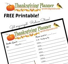 free printable thanksgiving dinner planner spend with pennies