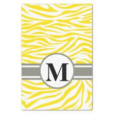 zebra tissue paper golden yellow craft tissue paper zazzle
