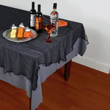 Coffee Table Cover by Buy Black Cheesecloth Tablecover