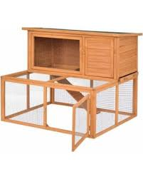 check out these deals on gymax wooden rabbit hutch chicken