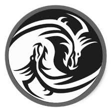 collection of 25 tribal yin yang sle