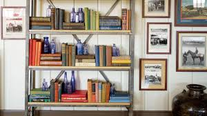 how to style a bookshelf southern living