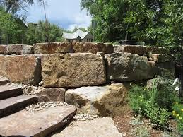 block retaining wall flagstone patio boulder garden wall canyon