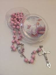 rosary favors for baptism 12 baptism favors rosaries cross scented pink party recuerdos de