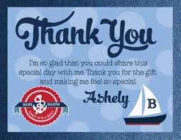 nautical thank you cards we a wonderful custom thank you card that matches our