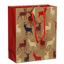 christmas paper bags medium christmas fashion gift bag 3pk tartan gift bags b m