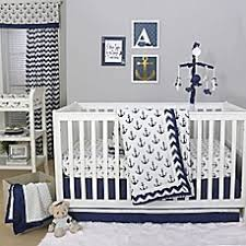 Anchor Bedding Set The Peanut Shell Anchor Crib Bedding Collection In White Navy