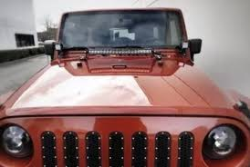 jeep jk hood led light bar 20 21 5 led light bar w on off switch front hood mounting