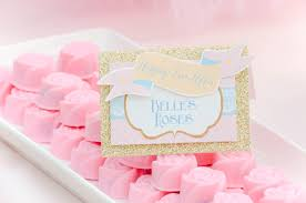 rose gold candy table disney princess pink and gold dessert table belle beauty and the