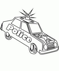 police car pictures color kids coloring