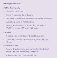 wedding packages how to save 1 900 on a st cruise ship wedding