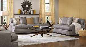 Rooms To Go Sleeper Loveseat Cindy Crawford Home Palm Springs Gray 5 Pc Living Room Living