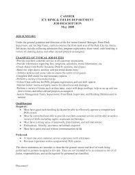 mcdonalds cashier job description stibera resumes