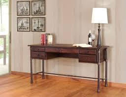 Office Desk Solid Wood Rustic Office Desk Metal Distressed Rough Sawn Solid Wood