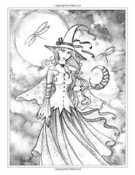 autumn magic grayscale coloring book autumn fairies witches