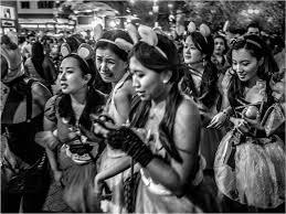 new york city halloween 2014 halloween 5 asian girls 2014 copy u2013 black and white street