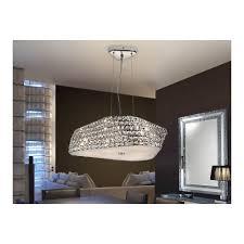 Geometric Pendant Light by Schuller 102048 Elis 6 Bulb Crystal Geometric Pendant Lamp