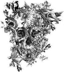 tatuaje calavera y rosas pupa tattoo granada tatuajes
