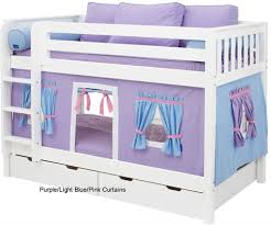 Bunk Bed Tents And Curtains Maxtrix Bunk Bed Tents For Purple Light Blue And Pink