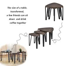 modern drink table aingoo coffee table set of 3 end side table stacking tea table