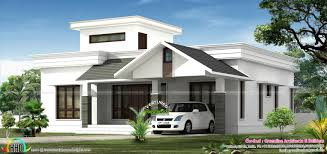 One Floor House Plans Picture House Low Budjet Single Floor House Design Two Side Views Kerala Home