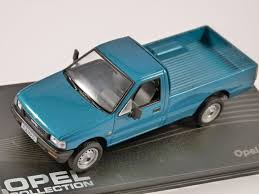 opel blue opel campo in blue 1 43 scale model altaya