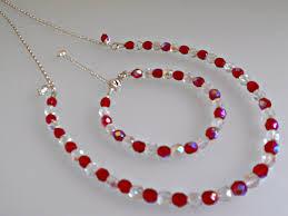 crystal design necklace images Red crystal ab necklace bracelet itsamistry jewellery design jpg