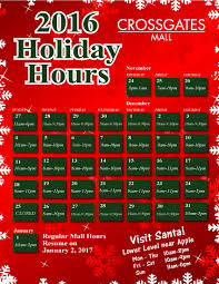 hours crossgates mall