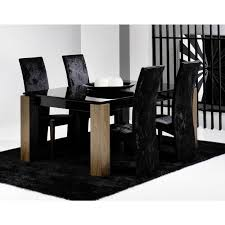 black glass kitchen table walnut and black glass dining table