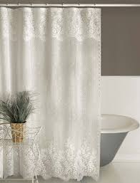 European Lace Curtains Cropped Shower Curtian Floret 019 2 Jpg