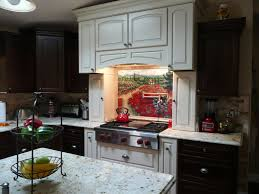 kitchen sunflower kitchen decor tile murals western backsplash of