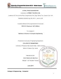 Sample Resume For Ojt Mechanical Engineering Students by Ojt Narrative Report
