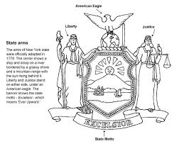 new york flag coloring sheet coloring pages ideas