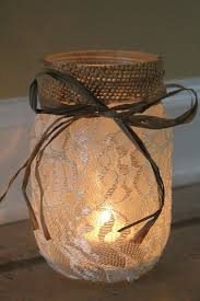 Mason Jar Candle Ideas 22 Rustic Burlap Lace Wedding Ideas
