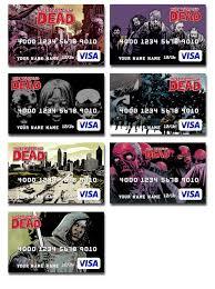 customized debit cards the walking dead prepaid visas arrived the walking dead