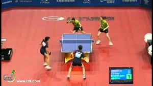 Table Tennis Doubles Rules Table Tennis Doubles Rally Youtube