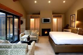 zen bedroom decor with natural wood color scheme double fold