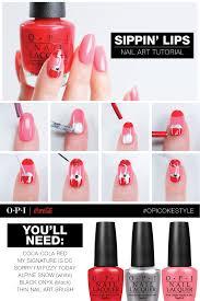 sippin u0027 lips nail art tutorial using coca cola by opi shades