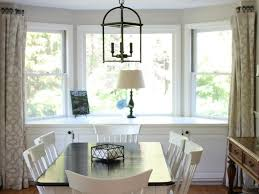 download window treatments for bay windows in dining room